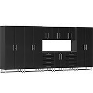 Midnight Black MetallicUlti-MATE Garage 2.0 10-PC Kit w/ Recessed Worktop
