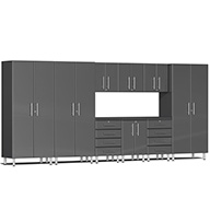 Graphite Grey MetallicUlti-MATE Garage 2.0 10-PC Kit w/ Recessed Worktop