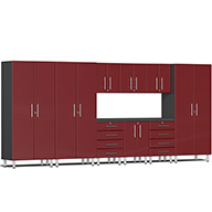 Ruby Red MetallicUlti-MATE Garage 2.0 10-PC Kit w/ Recessed Worktop