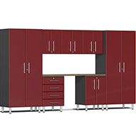 Ruby Red MetallicUlti-MATE Garage 2.0 8-PC Kit w/ Bamboo Worktop