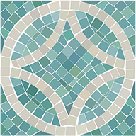 Seaglass Mosaic FloorAdorn Self-Adhesive Vinyl Sticker