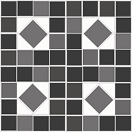 Black & White MosaicFloorAdorn Self-Adhesive Vinyl Sticker