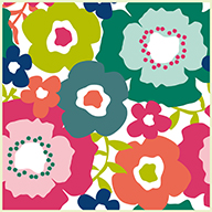 Flower FieldsFloorAdorn Self-Adhesive Vinyl Sticker