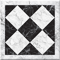 Marble Harlequin FloorAdorn Self-Adhesive Vinyl Sticker