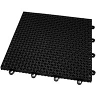 Midnight Black Rugged Grip-Loc Tile - Remnants