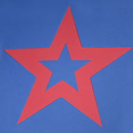 "Star - Red/Blue1/2"" Soft Shapes"