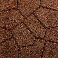 Red/BlackFlagstone Rubber Pavers