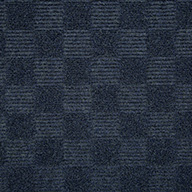 Ocean BlueCheckered Carpet Tile - Seconds