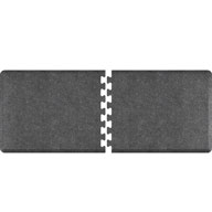 Granite Gray WellnessMats PuzzlePiece - 3' Wide R Series