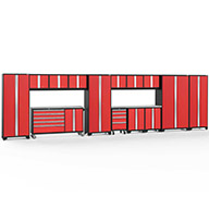Red / Steel 56534NewAge Bold Series 15-PC Cabinet Set