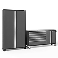 Gray / Steel 50196NewAge Bold Series 2-PC Cabinet Set