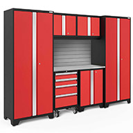 Red / Steel 56219NewAge Bold Series 7-PC Cabinet Set