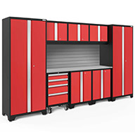 Red / Steel 56290NewAge Bold Series 9-PC Cabinet Set