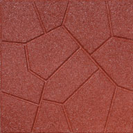 Red Flagstone Rubber Pavers