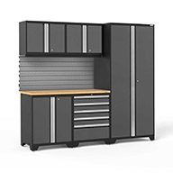 Gray / Bamboo 58323NewAge Pro Series 6-PC Cabinet Set
