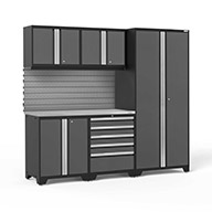 Gray / Steel 58325NewAge Pro Series 6-PC Cabinet Set