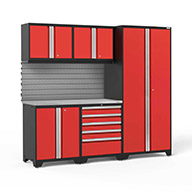 Red / Steel 59817NewAge Pro Series 6-PC Cabinet Set