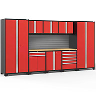Red / Bamboo	58693NewAge Pro Series 9-PC Cabinet Set