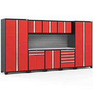 Red / Steel 58695NewAge Pro Series 9-PC Cabinet Set