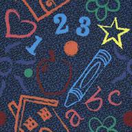 Multi Joy Carpets Kid's Art Carpet Tile