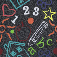 Chalkdust Joy Carpets Kid's Art Carpet Tile