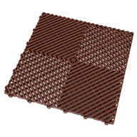 Chocolate BrownRibtrax Tiles