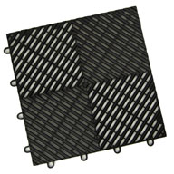 Midnight Black Vented Grid-Loc Tiles™
