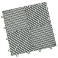 Gunmetal Vented Grid-Loc Tiles™