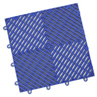 Shelby Blue Vented Grid-Loc Tiles™
