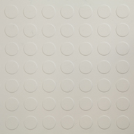 White 6.5mm Coin Flex Tiles