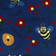 Blue Joy Carpet Bee Attitudes Kids Rug