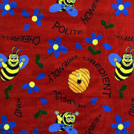 Red Joy Carpet Bee Attitudes Kids Rug