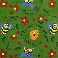 Green Joy Carpet Bee Attitudes Kids Rug