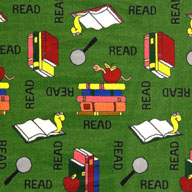GreenJoy Carpets Bookworm Kids Rug