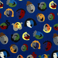 Blue Joy Carpets Joyful Faces Kids Rug