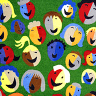 Green Joy Carpets Joyful Faces Kids Rug