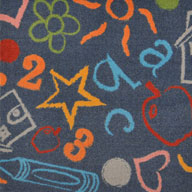 ChalkdustJoy Carpets Kid's Art Kids Rug