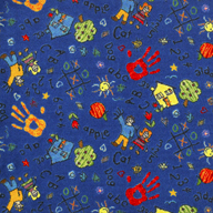 BlueJoy Carpets Scribbles Kids Rug