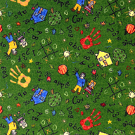 Green Joy Carpets Scribbles Kids Rug