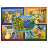 Multi Joy Carpets Bible Stories Kids Rug