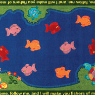 MultiJoy Carpets Fishers Of Men Kids Rug