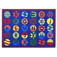 PrimaryJoy Carpets Alphabet Patterns Kids Rug