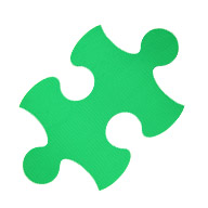 Green Puzzle Mats
