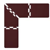 Burgundy WellnessMats PuzzlePiece - 2' Wide L Series