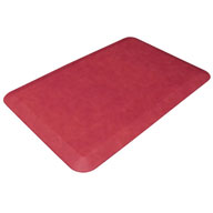 Leather Grain CranberryDesigner Comfort Mats