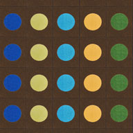 Earthtone Joy Carpets Lots of Dots Kids Rug