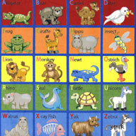 MultiJoy Carpets Animal Phonics Kids Rug