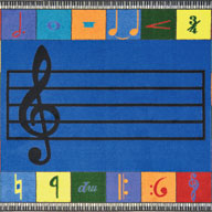 ElementaryJoy Carpets Note Worthy Kids Rug