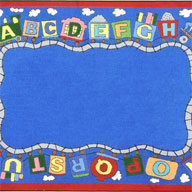 Multi Joy Carpets Reading Train Kids Rug