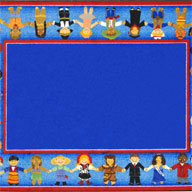 Multi Joy Carpets Children of Many Cultures Kids Rug